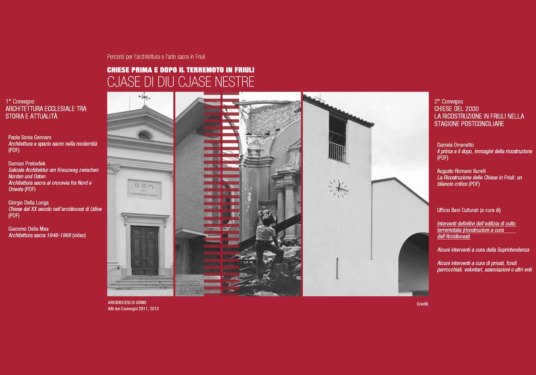 Chiese prima e dopo il terremoto in Friuli